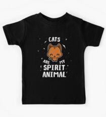 Cats Are My Spirit Animal Kids Tee