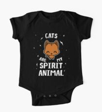 Cats Are My Spirit Animal One Piece - Short Sleeve