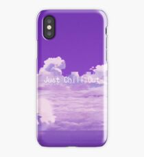 Just Chill Out Purple Version. iPhone Case