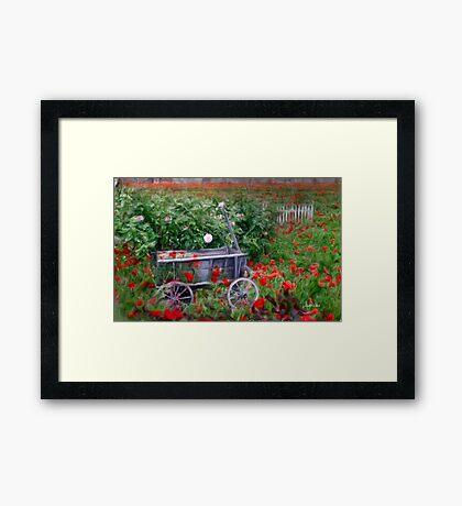 The Poppy Cart Framed Print