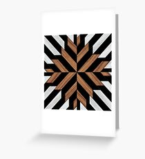 Wooden Tribal Pattern Greeting Card