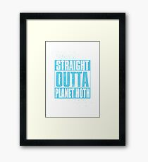 Straight Outta Planet Hoth Framed Print