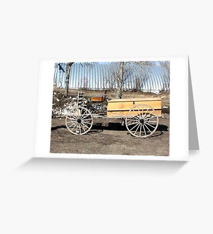 A Cowboys Last Ride Greeting Card