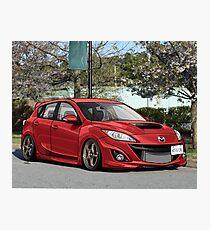 Mazdaspeed 3 red  Photographic Print