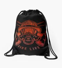 Fire Life  Drawstring Bag
