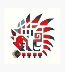 Rathalos Monster Hunter Symbol Design Art Print