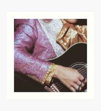Harry Styles guitar Art Print