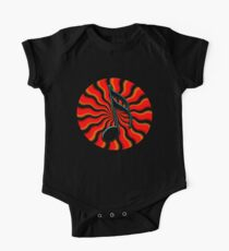 Red Hot Semiquaver - 16th Note Music Symbol One Piece - Short Sleeve