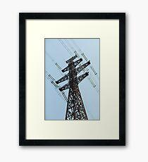 high voltage power line Framed Print
