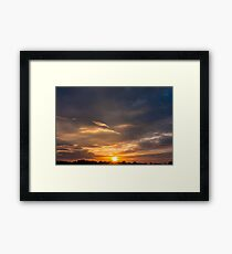 Sunset sky Framed Print