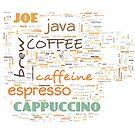 Coffee Lovers Word Cloud 1 by Cheri Sundra