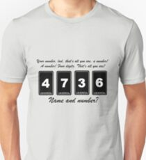 Name and Number  T-Shirt