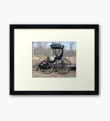 The Doctor's Buggy Framed Print
