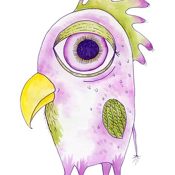 Big Eyed Bird Monster by ElfRenee