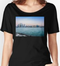 Dubai Marina from the Palm Jumeirah Dubai, UAE Women's Relaxed Fit T-Shirt