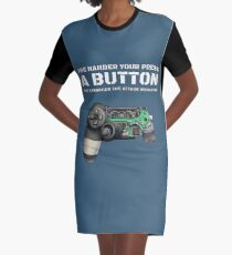 Vestido camiseta Cuanto más fuerte sea su presionar un botón, el ataque más fuerte sería el mito del jugador.
