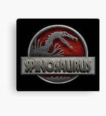 Spinosaurus (accurate) Logo Jurassic Park inspired Canvas Print