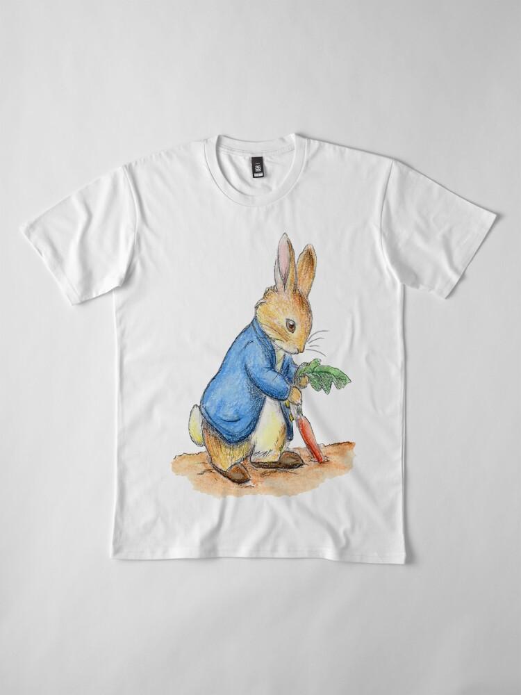 Alternative Ansicht von Kindergartenfiguren, Peter Rabbit, Beatrix Potter. Premium T-Shirt