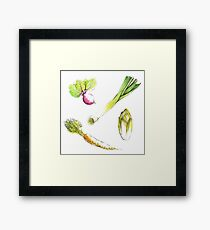 Seasonal vegetables Framed Print