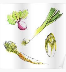 Seasonal vegetables Poster
