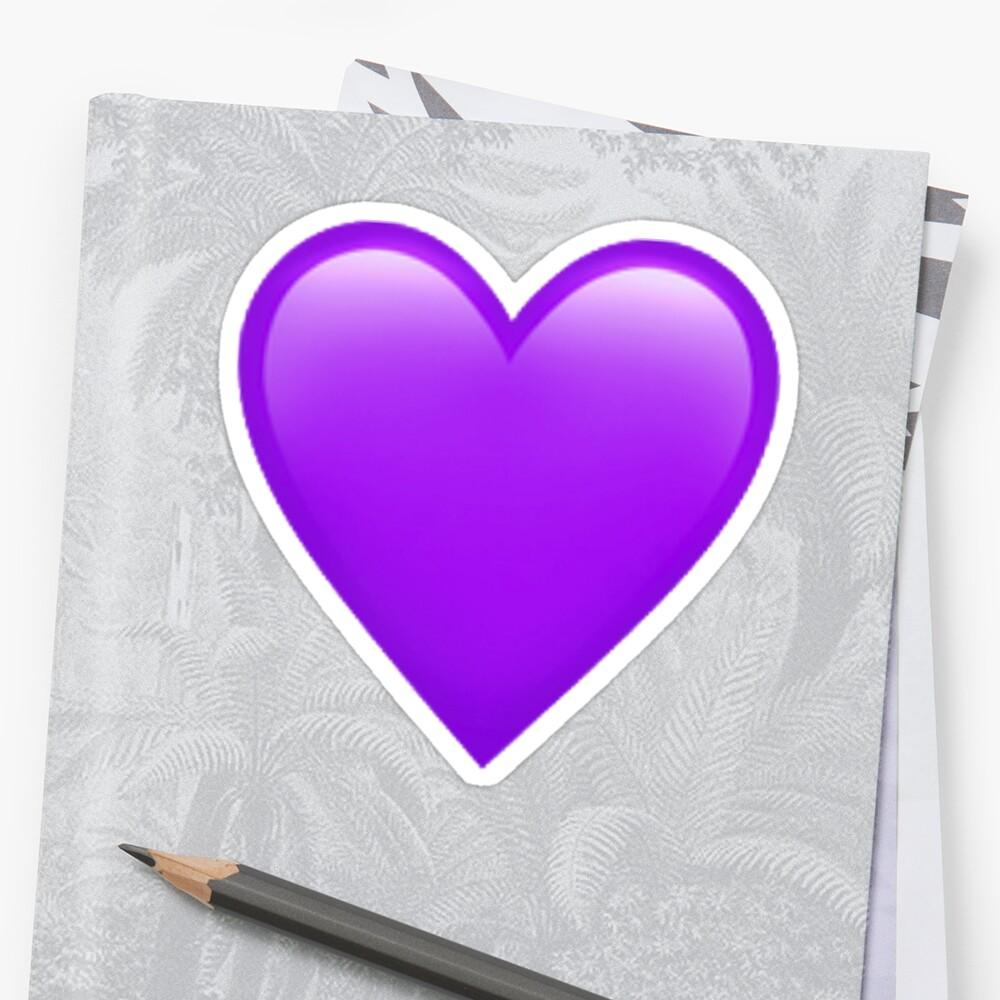purple emoji heart by jerseyjules123
