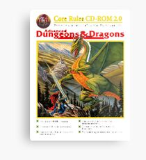 dungeons and dragons red box Metal Print