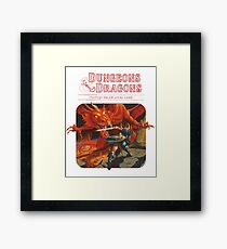 dungeons and dragons red box Framed Print