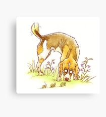 Doggie Capers - Rush Hour Canvas Print