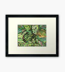 Green Sci-Fi Framed Print