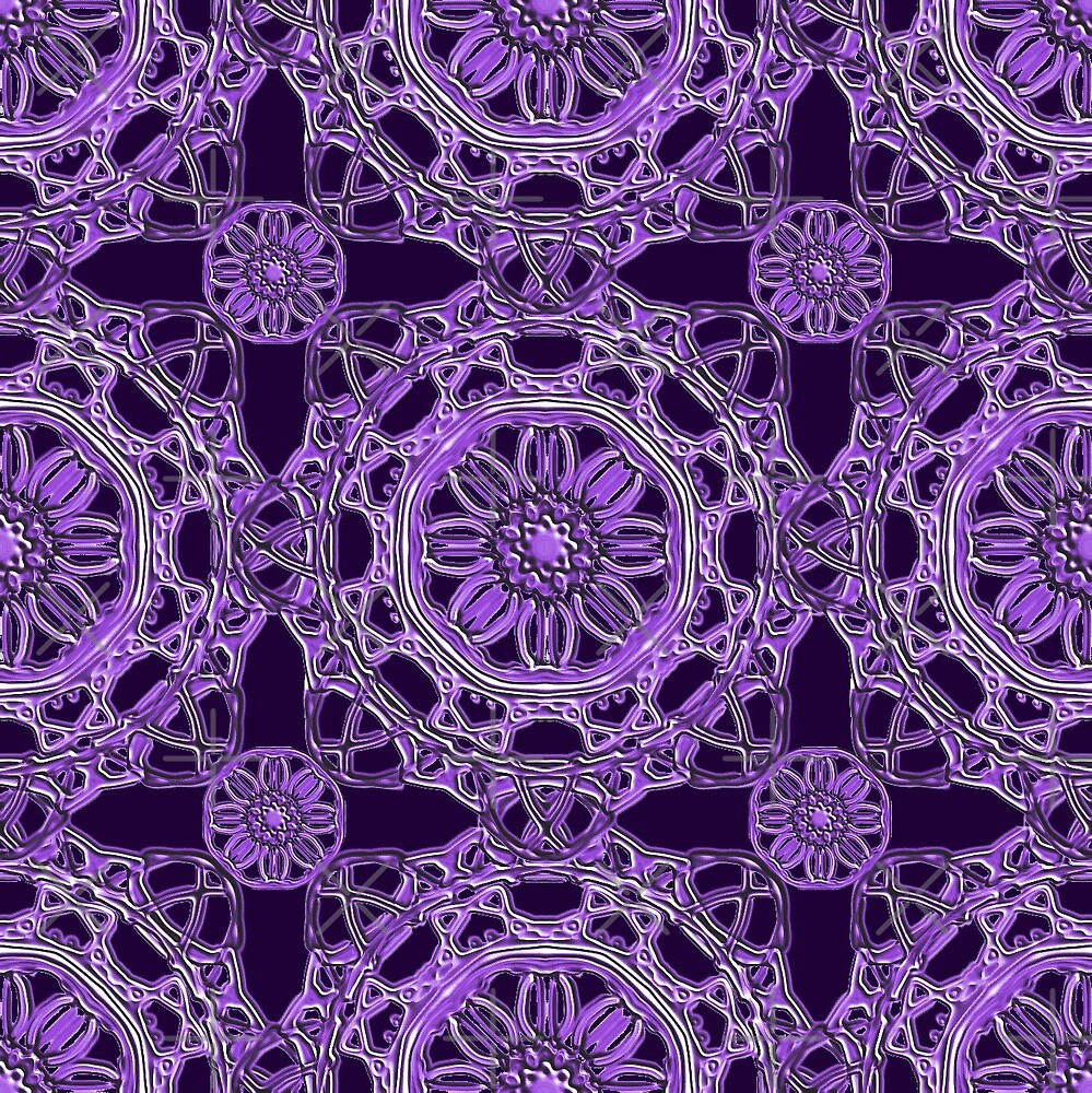 Crossed Floral Lace in Purple by TC-TWS