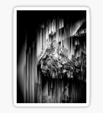 Haunted Static - Glitchy Abstract Pixel Art Sticker