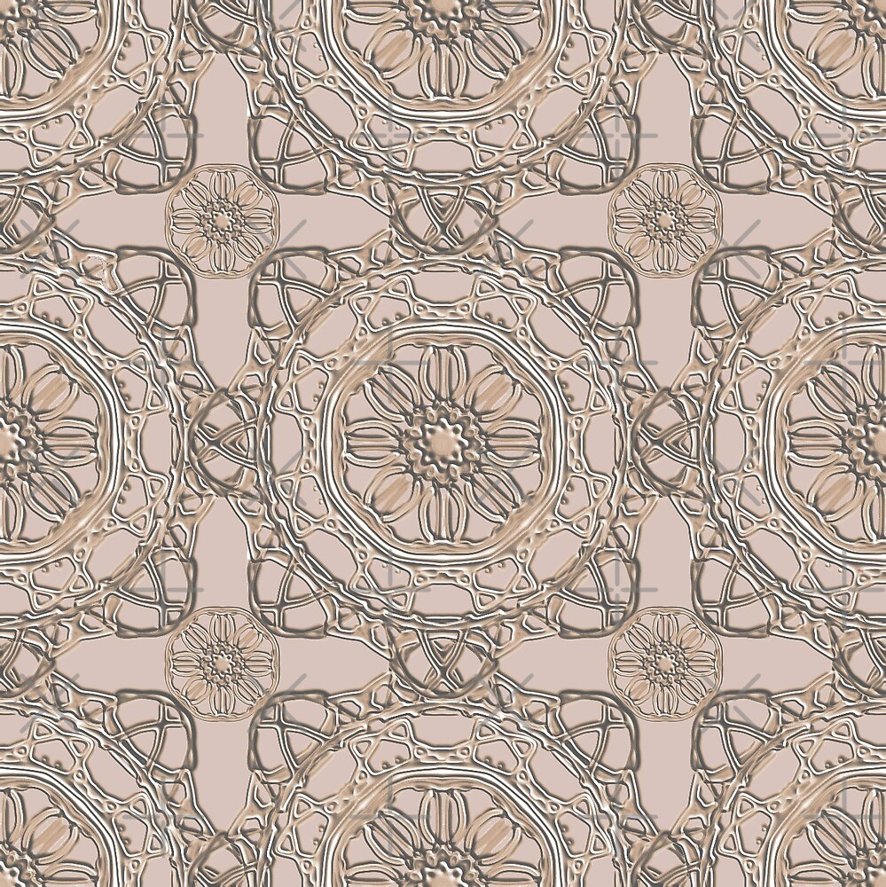 Crossed Floral Lace in Beige by TC-TWS