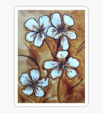Coffee Flowers Sticker