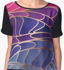 Modern Colorful Abstract Art Chiffon Top