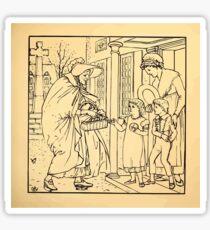 Walter Crane's Painting Book 1889 29 - Hot Cross Buns Lines Sticker