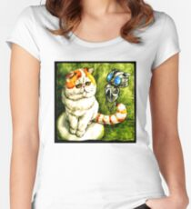 Funny babe And Echo Art Vector Women's Fitted Scoop T-Shirt