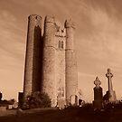 roundtower church lusk co, Dublin. by Finbarr Reilly