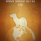 Black-footed ferret - endangered species by Moira Risen