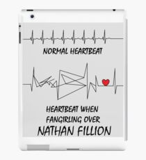 Heartbeat when fangirling over Nathan Fillion iPad Case/Skin
