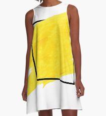 Yellow Border A-Line Dress