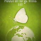 Madeiran large white butterfly - extinct animals by Moira Risen