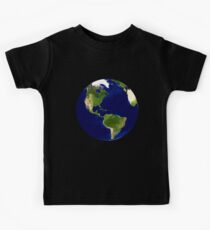 North America, From Space, Planet Earth, Globe Kids Tee