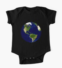 North America, From Space, Planet Earth, Globe One Piece - Short Sleeve