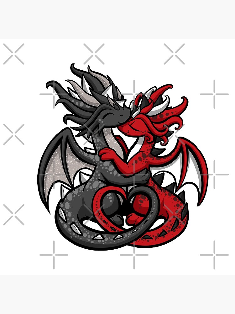 Dragon Couple Black and Red by bgolins