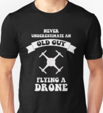 Old Guy flying a drone Unisex T-Shirt