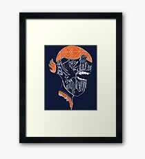 Graffiti doodle - creature's head 2 Framed Print