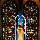 Leadlight Window No. 1 - Notre Dame Cathedral, Saigon Vietnam by Bev Pascoe