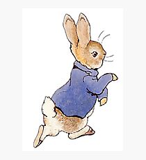 Nursery Characters, Peter Rabbit, Beatrix Potter. In his blue jacket Photographic Print