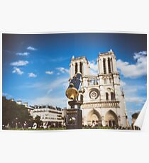 Telescope overlooking for Notre Dame Poster