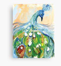 Peacock Print Canvas Print